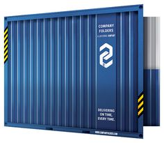 Shipping Container Presentation Folder Template [Free PSD]
