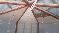Yurt interior ceiling.