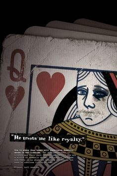 Portfolio of Jon Benson #domestic #issue #card #of #abuse #playing #hearts #queen #social