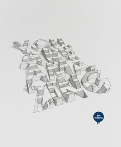 3D Typography © Lex Wilson #illustration #typography