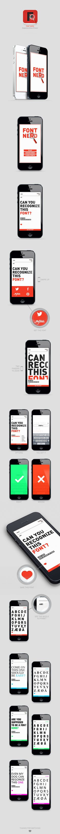 Font Nerd on Behance #font #design