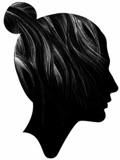 Creative Journal - design, art, architecture and photography inspiration #hair #profile #illustration #head