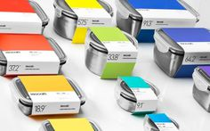 Pantone-like packaging by Anagrama