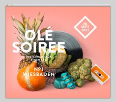 Ole Soiree #layout #website #web #web design
