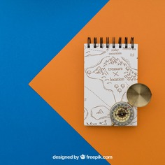 Notepad and compass Free Psd. See more inspiration related to Mockup, Travel, Summer, Paper, Mock up, Drawing, Compass, Adventure, Decorative, Tourism, Vacation, Trip, Holidays, Notepad, Journey, Up, Traveling, Items, Composition, Mock, Summertime and Touristic on Freepik.