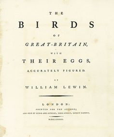 Lewin First-Edition Birds of Britain Prints 1789 #printing #typography