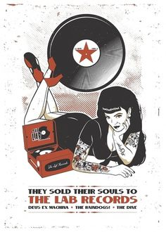 The Lab Records / Silkscreen Poster on the Behance Network #designinsane #tind #silkscreen #lab #pinup #poster #records
