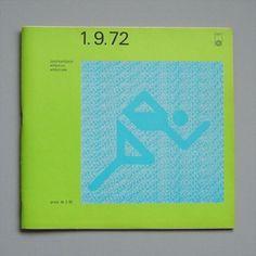 Otl Aicher 1972 Munich Olympics - Programmes #otl #1972 #aicher #olympics #munich
