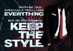 Keep the style Art Print #design #graphic #glass #poster #suit