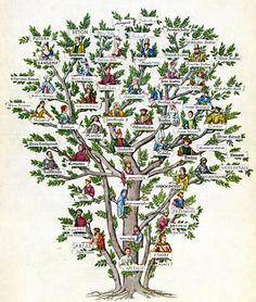 Family Tree of Typography #illustration #family #tree #typography