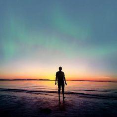 Art Photography by Joel Robison (2) #beach #aurorua #silhouette #borealis #sunset