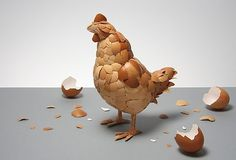 Chicken made from eggshells — Lost At E Minor: For creative people #eggshells #from #chicken #made