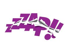 #zap #typography #illustration #purple
