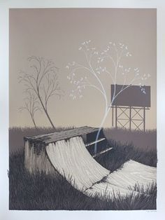 Justin Santora :: Plans We Made For Every Summer #sepia #tree #skateboard #poster