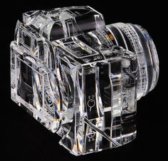 Glass Sculpture of Canon 7D | PICDIT #glass #sculpture #art