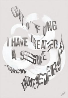 Typeverything.com -Poster for This Is Now... - Typeverything #typography poster paint