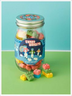 GeorgeMcCalman_candybandits_06.jpg 500×660 pixels #packaging #candy #jar #food