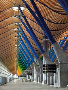 #airports #architecture Richard Rogers Partnership T4 Barajas Airport, #Madrid