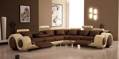 Wall colours for brown sofas soft brown hues #sofa #living #furniture #brown #room