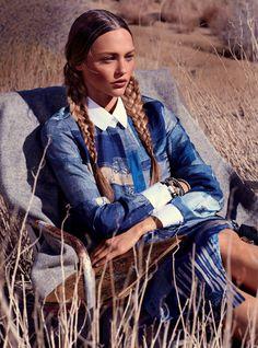 Sasha Pivovarova by Mikael Jansson for US Vogue
