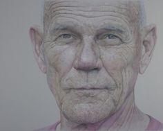 """A Mind at Peace"" (colored pencil portrait) 32""X40"" on Behance #portrait"
