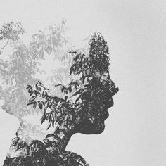 We Are Trees by *KingaagniK #abstract #photography #double exposure #black and white #surreal