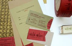 Wild Olive « Stitch Design Co. #letterhead #design