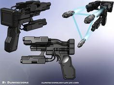 Gantz – Lock-On Handgun #weapon #gun #design #future #gantz