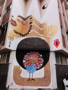 Tika5 #steet #mural #eyes #lion #golden #art