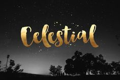 Celestial Hand lettering #lettering #hand #brush #typography