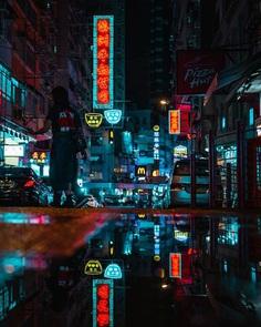 Stunning Cyberpunk Street Photography by Teemu Jarvinen