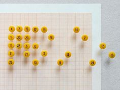 Numbered Push Pins How have we survived so long without these numbered pins? An essential in any office with a penchant for O.C.D Each se #numbers
