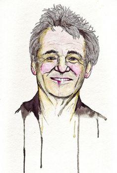 onebighappy illustrator #murray #ink #bill #illustration #portrait #watercolor