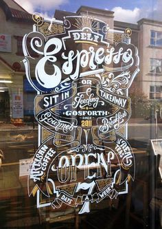 Deli Espresso Window Sign by Ashley Willerton #window #espresso