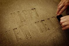 newyear mrcup 03 #font #year #typography #greetings #sand #new