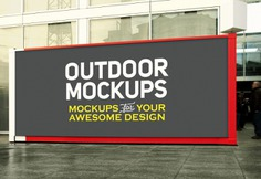 Horizontal outdoor panel mock up Free Psd. See more inspiration related to Mockup, Template, Web, Website, Mock up, Templates, Website template, Outdoor, Mockups, Up, Panel, Web template, Realistic, Horizontal, Real, Web templates, Mock ups, Mock and Ups on Freepik.