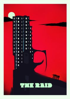 THE RAID (VARIANT RED) product imagesof #movie poster #rocco malatesta #the raid