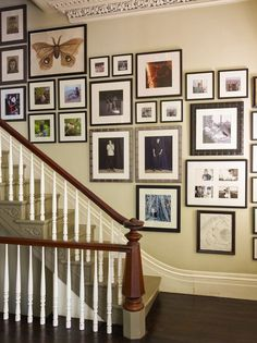 stairway gallery wall by Ilevel inc #picture #gallery