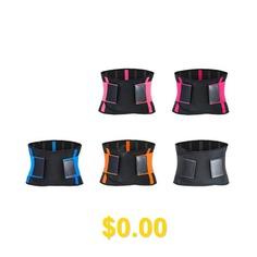 Unisex #Warm #Pressure #Fixed #Waist #Belt #- #BLACK #ORANGE #L #CODE #112CM