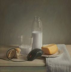 Stills on the Behance Network #cheese #mouse #classic #photography #milk #life #still #bread