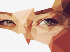 Drib #eyes #triangle #portrait
