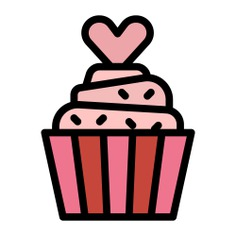 See more icon inspiration related to cake, sweet, meal, dessert, love and romance, food and restaurant, cupcake, romantic and love on Flaticon.