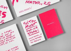 Sita Murt / Sita Murt Pop Up Store identity / Fashion #drawn #stationery #fashion #hand #neon