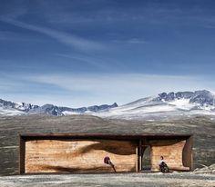 Dezeen » Blog Archive » Norwegian Wild Reindeer Centre Pavilion by Snøhetta #architecture