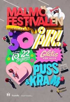 2014 years poster for Malmöfestivalen is finally released and it's most probably the biggest poster ever made. Perhaps also the first time