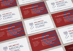 Velnet 21 Medical Clinic - Branding #medicine #healthcare #logo #medicalclinic #business-card