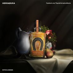 Tequila Herradura on Behance #bottle #mexico #alcohol #coleccion #paint #still #herradura #life #oil