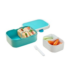Kids Bento Lunchbox - IPPINKA The Kids Bento Lunchbox conveniently separates foods into different sections. Now you can store fruits, bread, and nuts without worrying about them mixing all together.