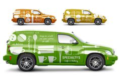 branded delivery car fleet #vehicle #wrap #icons