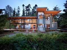 Port Ludlow Residence by FINNE Architects #house #washington #wood #architecture #forest